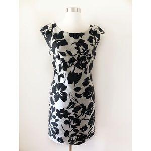 Weekend MaxMara Floral Metallic Sheath Dress
